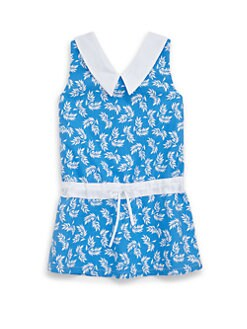 Isabel Garreton - Toddler's Cotton Leaf Print Dress