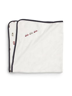 Petit Lem - Cotton Train Print Blanket