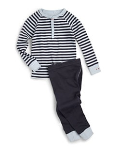 Petit Lem - Infant's Cotton Striped Contrast Two-Piece Set