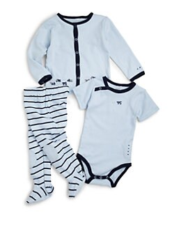 Petit Lem - Infant's Cotton Trucks Three-Piece Set