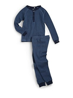Petit Lem - Infant's Cotton Striped Two-Piece Set/Blue