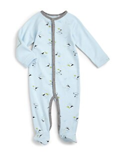 Petit Lem - Infant's Cotton Dinosaur Footie