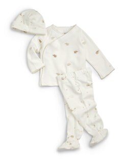 Petit Lem - Infant's Cotton Elephants Three-Piece Set