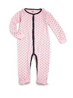 Petit Lem - Infant's Cotton Polka Dot Footie