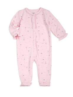 Petit Lem - Infant's Cotton Parisian Hearts Footie