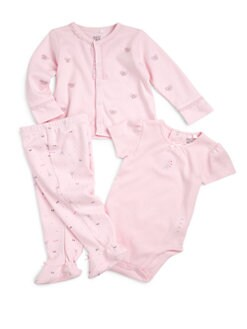 Petit Lem - Infant's Cotton Parisian Bows Three-Piece Set