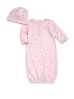 Petit Lem - Infant's Cotton Parisian Hearts Two-Piece Set