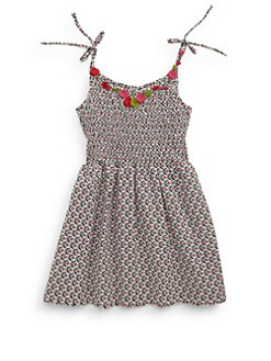 Isabel Garreton - Little Girl's Smocked Applique Dress