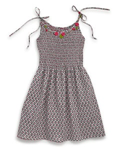 Isabel Garreton - Little Girl's Cotton Printed Smocked Dress