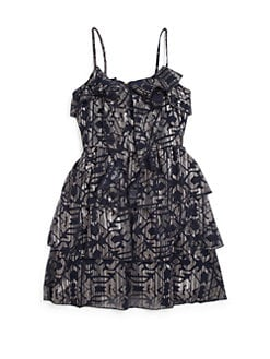 Nicole Miller - Girl's Shelly Foil Print Chiffon Dress