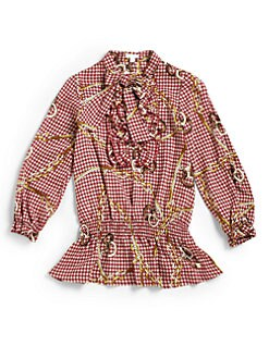 Microbe - Toddler's & Little Girl's Printed Ruffled Shirt