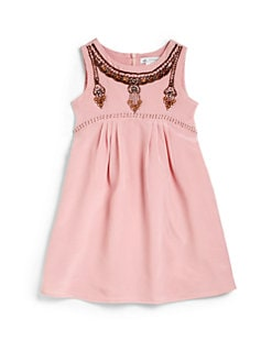 Charabia - Toddler's & Little Girl's Silk Bead Detail Dress