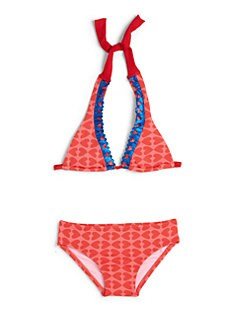 Agatha Ruiz De La Prada - Girl's Two-Piece Cutout Heart Bikini Set