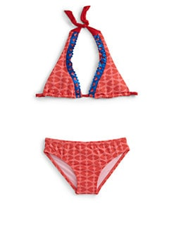 Agatha Ruiz De La Prada - Little Girl's Two-Piece Eyelet Heart Bikini