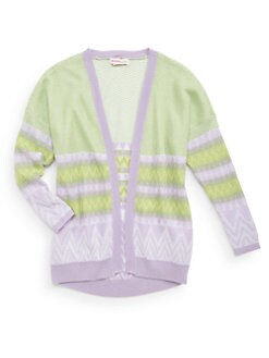Design History - Girl's Chevron Knit Cardigan