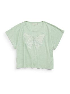 Design History - Girl's Lace Bow Tee