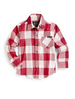 Woolrich - Toddler's & Little Boy's Plaid Cotton Shirt/Red