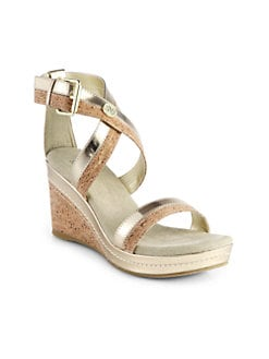 Stuart Weitzman - Girl's Alabaster Wedge Sandals/Tan