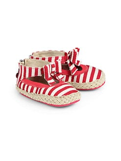 Stuart Weitzman - Infant's Baby Sachet Striped Mary Jane Flats