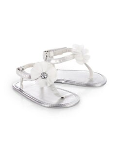 Stuart Weitzman - Infant's Baby Silk Thong Sandals