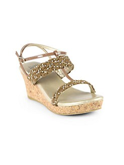 Stuart Weitzman - Girl's Palm Cork Wedge Sandals