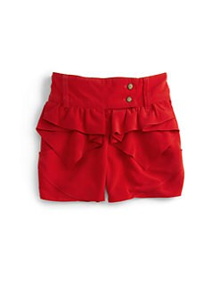 KC Parker - Girl's Satin Ruffle-Front Shorts