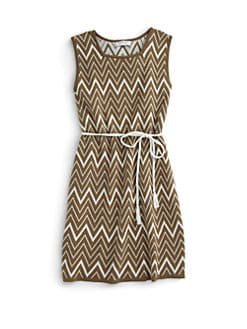 KC Parker by Hartstrings - Girl's Cotton Tribal Knit Dress