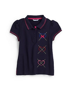 Hartstrings - Toddler's & Little Girl's Embroidered Polo Shirt