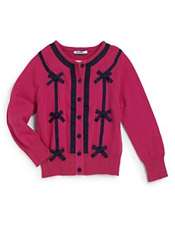 Hartstrings - Toddler's & Little Girl's Bow-Front Cardigan