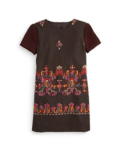 Isabel Garreton - Little Girl's Embroidered A-line Dress