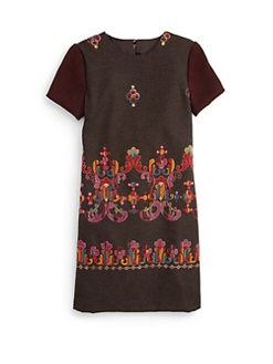 Isabel Garreton - Girl's Embroidered A-line Dress
