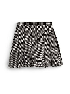 Isabel Garreton - Little Girl's Gingham Pleated Skirt