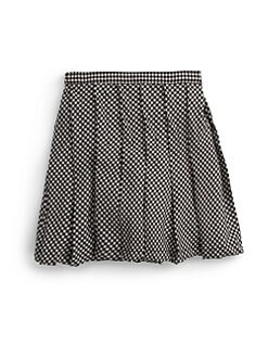 Isabel Garreton - Girl's Gingham Pleated Skirt