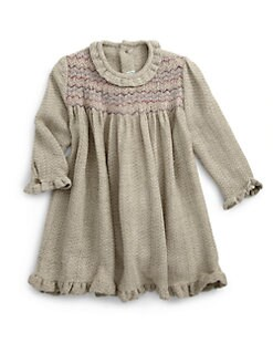 Isabel Garreton - Toddler's Ruffle Trim Smocked Dress