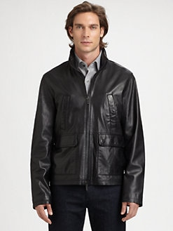 Michael Kors - Perforated Leather Jacket