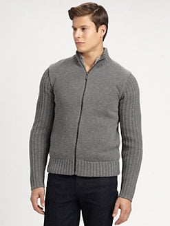 Michael Kors - Reversible Full-Zip Fur Sweater