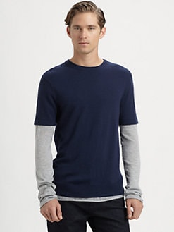 Michael Kors - Double-Layer Cotton Crewneck