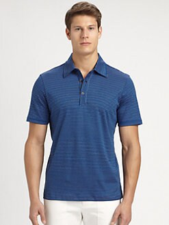 Michael Kors - Striped Knit Polo