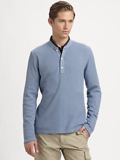 Michael Kors - Jersey Trim Waffle Henley