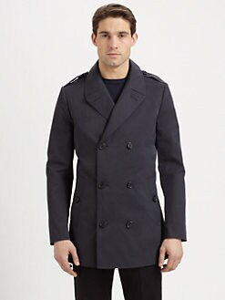 Michael Kors - Cotton Double-Breasted Peacoat