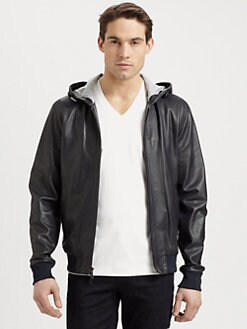 Michael Kors - Perforated Leather Hoodie