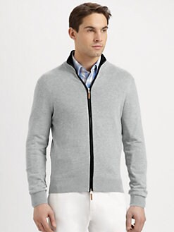 Michael Kors - Tipped Zip Cardigan