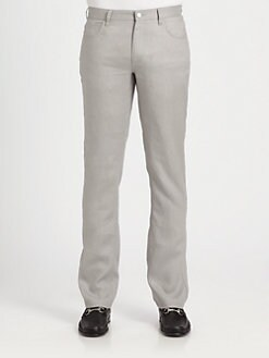 Michael Kors - Linen Five-Pocket Jeans