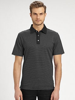 Michael Kors - Striped Pique Polo