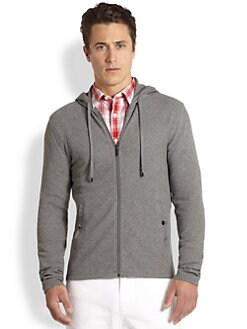 Michael Kors - Waffle Nylon-Trim Hoodie