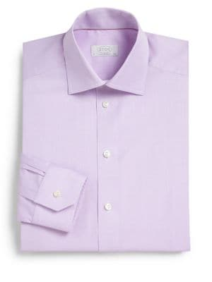 Contemporary-Fit Herringbone Dress Shirt