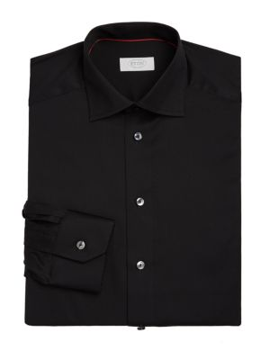 Contemporary-Fit Solid Dress Shirt