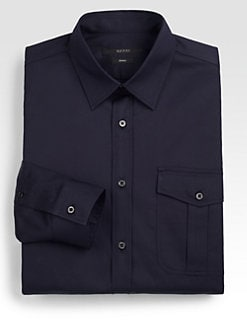 Gucci - Cotton Microweb Sportshirt
