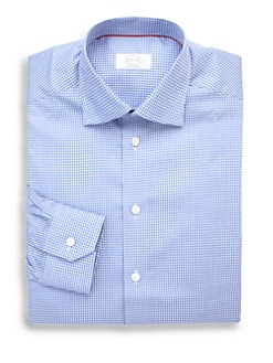 Eton of Sweden - Contemporary-Fit Gingham Check Dress Shirt
