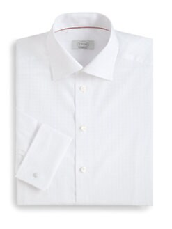 Eton of Sweden - Contemporary-Fit Tonal Check Dress Shirt